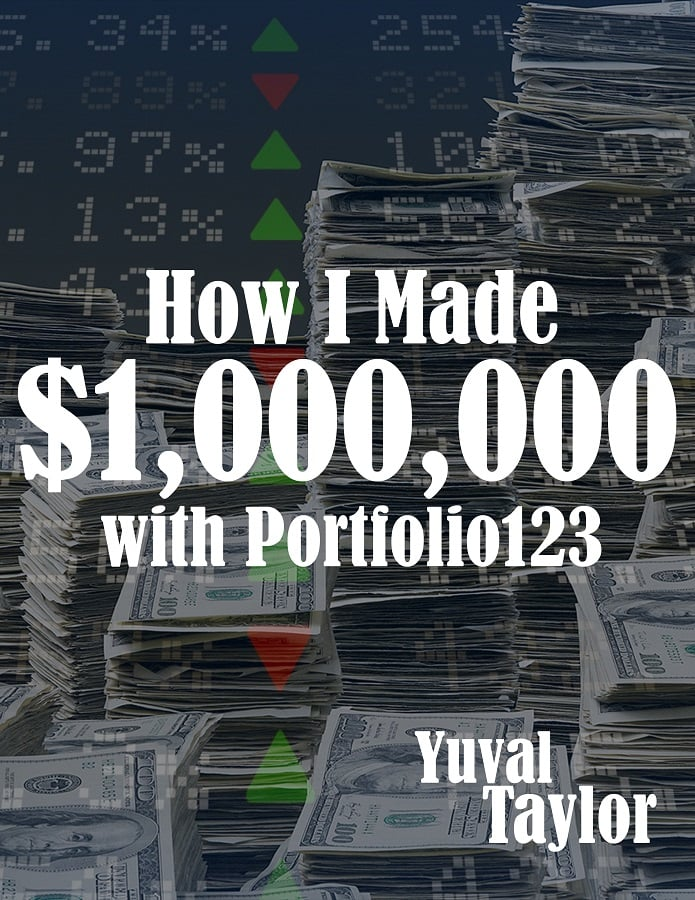 "cover of e-book ""How I made $1M with Portfolio123"""