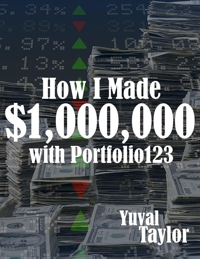 """cover of e-book """"How I made $1M with Portfolio123"""""""